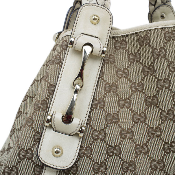 Gucci Beige Monogram Canvas Large Pelham Tote