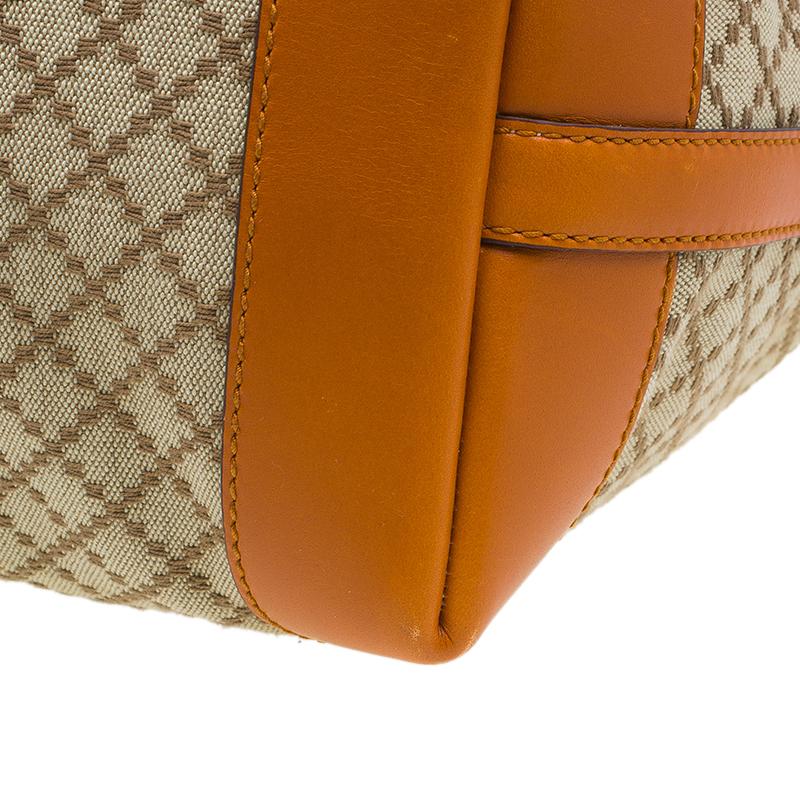 Gucci Orange Diamante Canvas Medium Craft Tote Bag