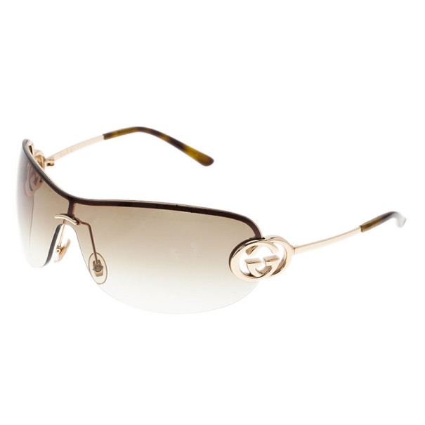 Gucci Brown GG 2773 Shield Sunglasses