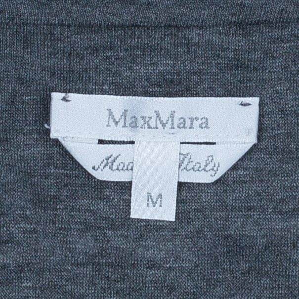Max Mara Grey Cowl Neck Top M
