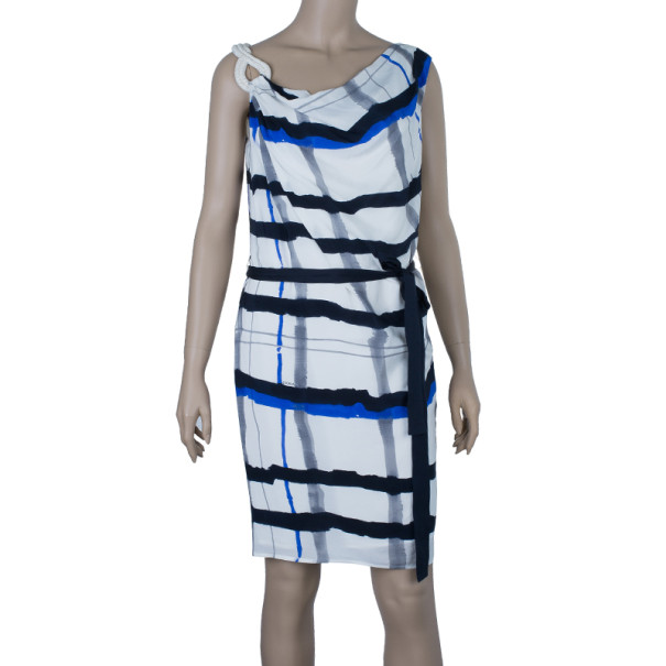 Escada Doutzen Silk Printed Dress XS