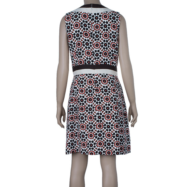 Tory Burch Multicolor Belted Sheath Dress M