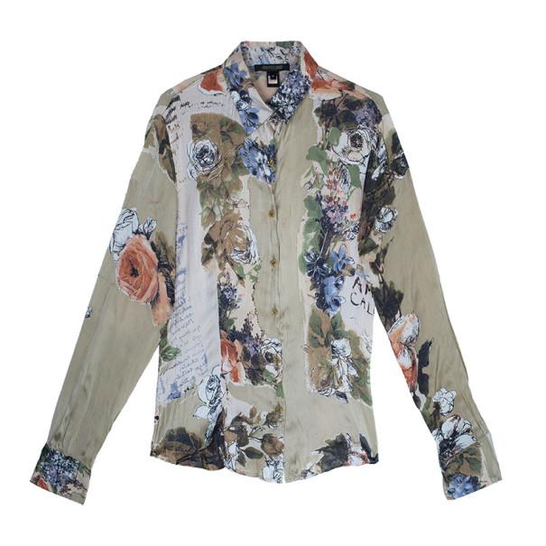 Roberto Cavalli Silk Floral Shirt M