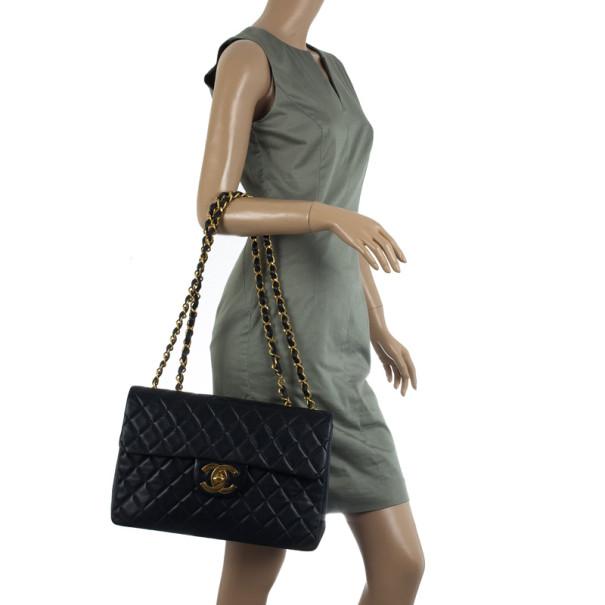 Chanel Vintage Black Jumbo XL Flap Bag