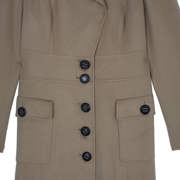 Escada Tan Cashmere Long Coat S
