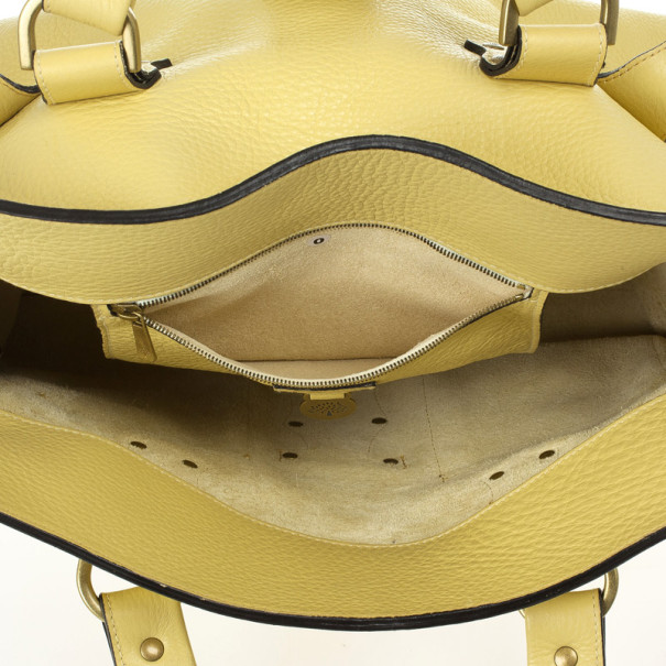 Mulberry Pale Yellow Leather Roxanne Satchel