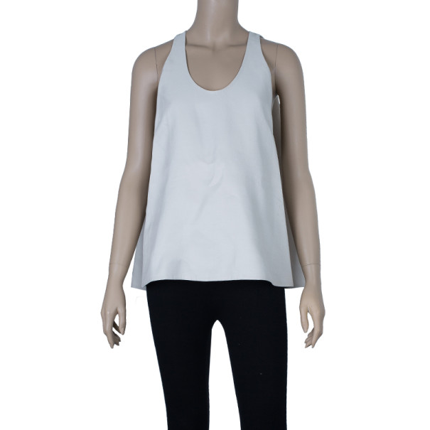 3.1 Phillip Lim Ivory Silk Trapeze Top M