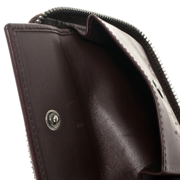 Gucci Brown Guccissima Leather Compact Zippy Wallet