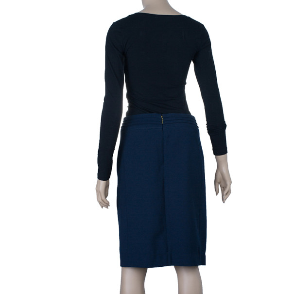 Tory Burch Navy Rosalyn Skirt S