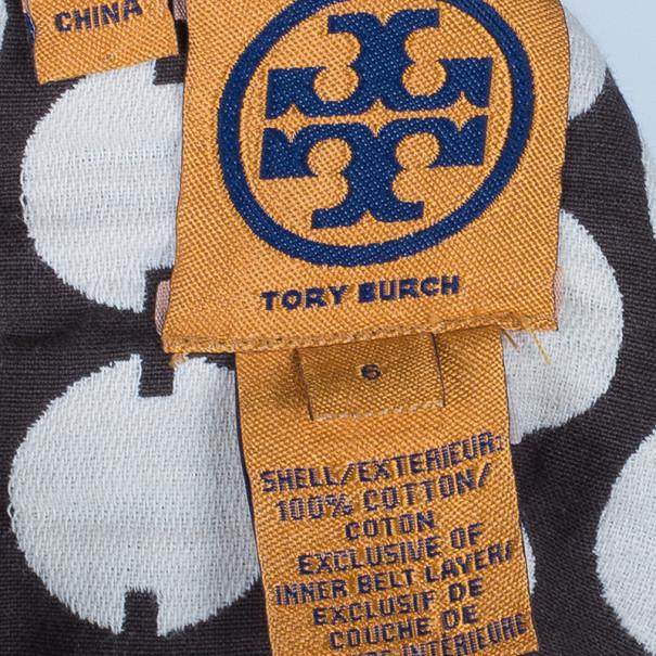 Tory Burch Brown Polka-Dot Sheath Dress M