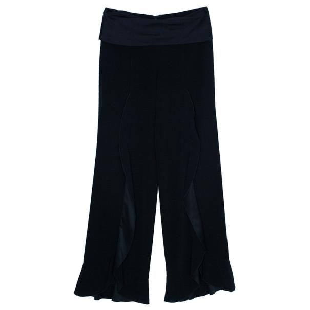 Emporio Armani Wide-Leg Ruffle Trousers M