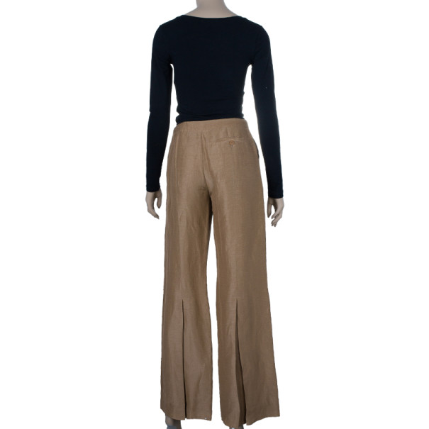 Giorgio Armani Linen and Silk Blend Trousers M