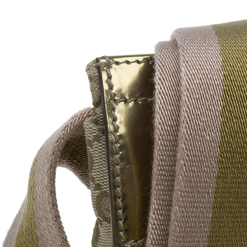 Gucci Gold Monogram Canvas Small Waist Belt Bag