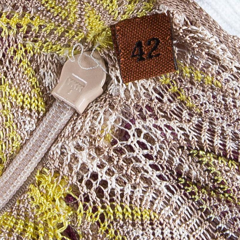 Missoni Pink Multicolor Halter Back Knit Maxi Dress M