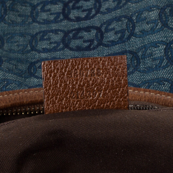 Gucci Denim Abbey Medium D-Ring Hobo Bag