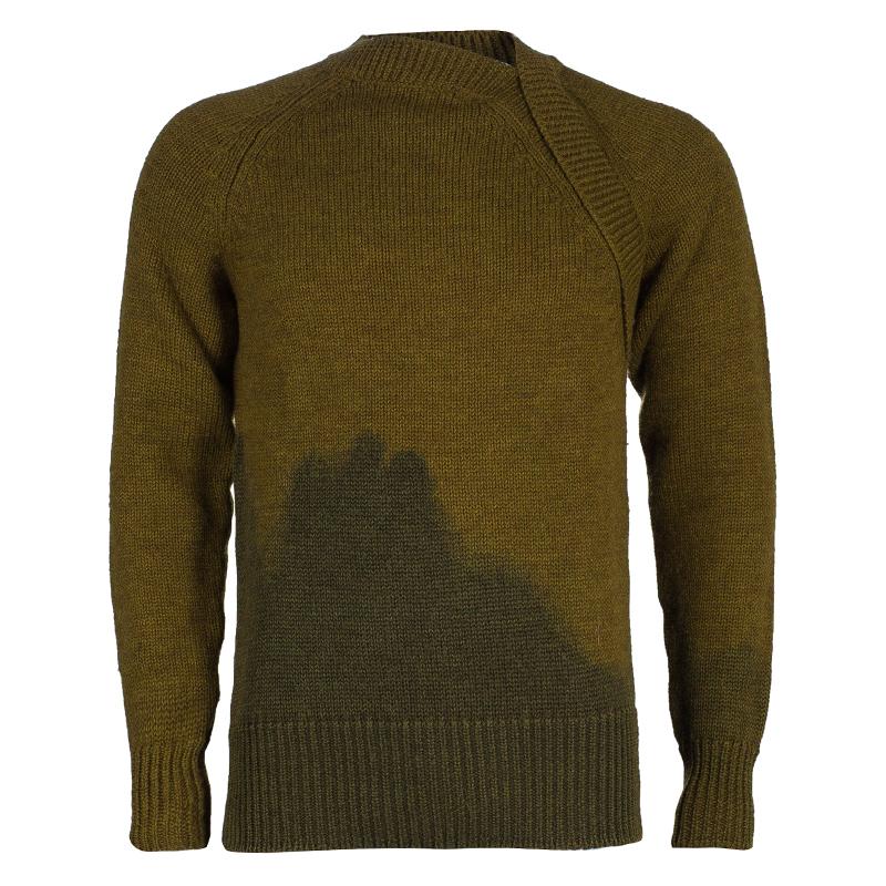 Bottega Veneta Men's Brown Green Knit Sweater M