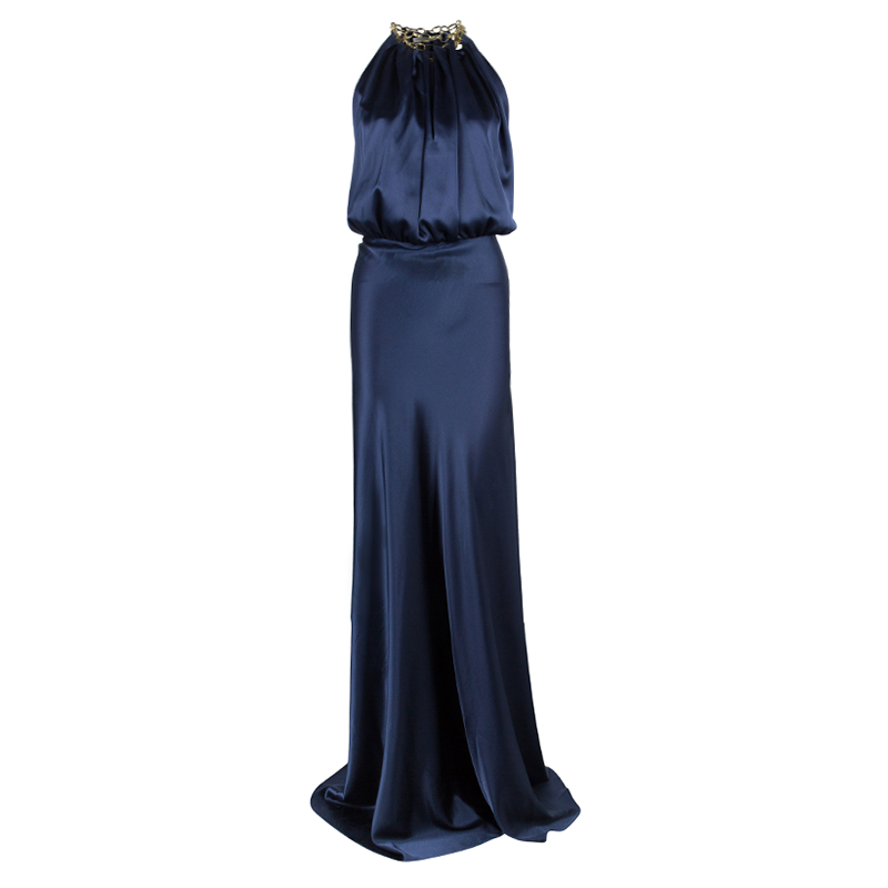 Balenciaga Midnight Blue Halter Gown