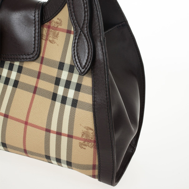 Burberry Haymarket Check Satchel