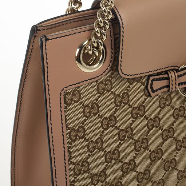Gucci Emily Original GG Canvas Chain Shoulder Bag