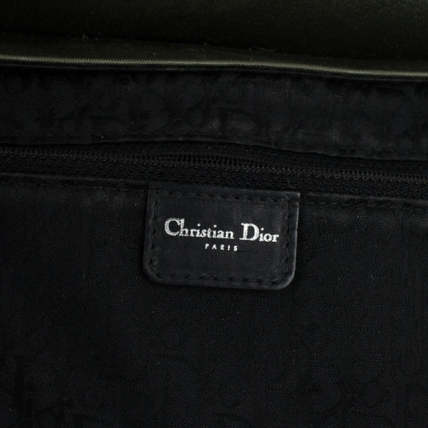Christian Dior Green and Black Small Dual Strap Shoulder Bag