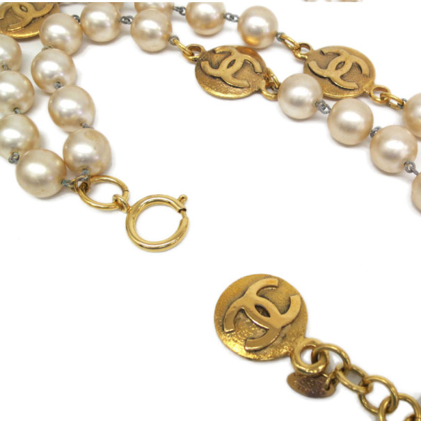 Chanel Vintage Faux Pearl Necklace