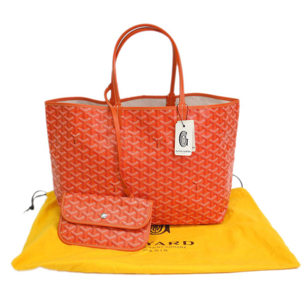 Goyard Orange Canvas Saint Louis Tote PM