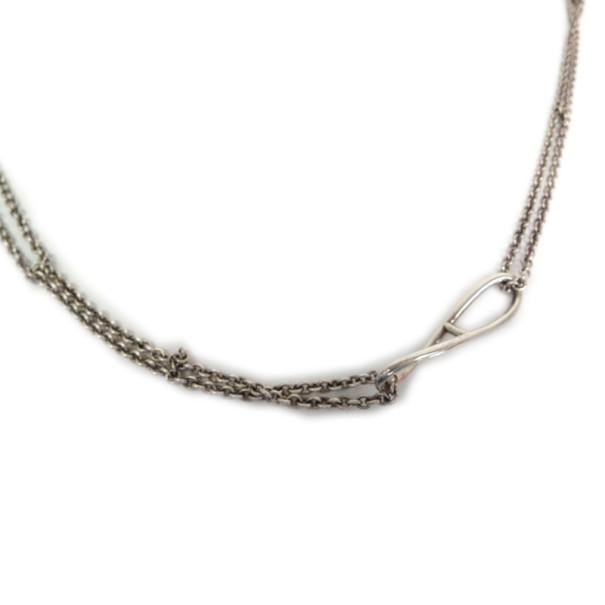 Hermes Long Chaîne d'Ancre Silver Necklace