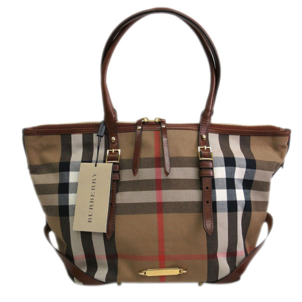 Burberry Nova Check Canvas Salisbury Tote