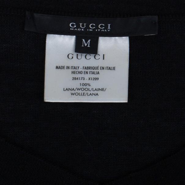 Gucci Black Wool Cardigan M