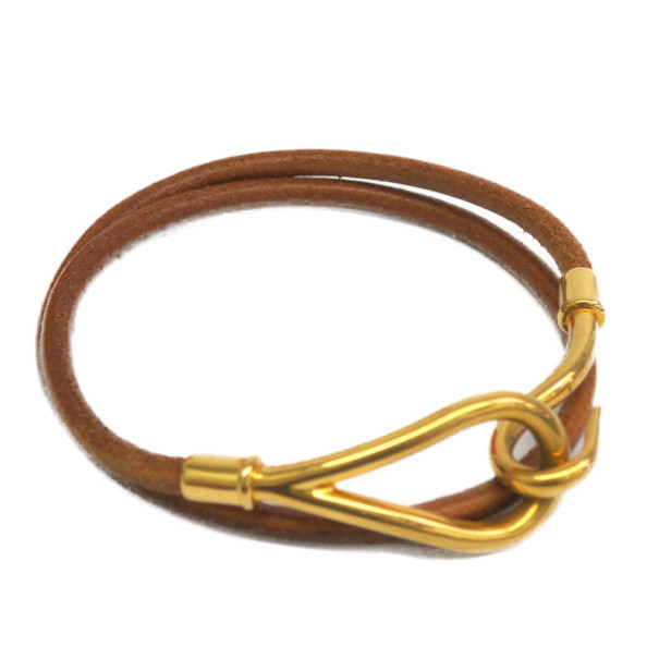 Hermes Jumbo Choker Brown Leather