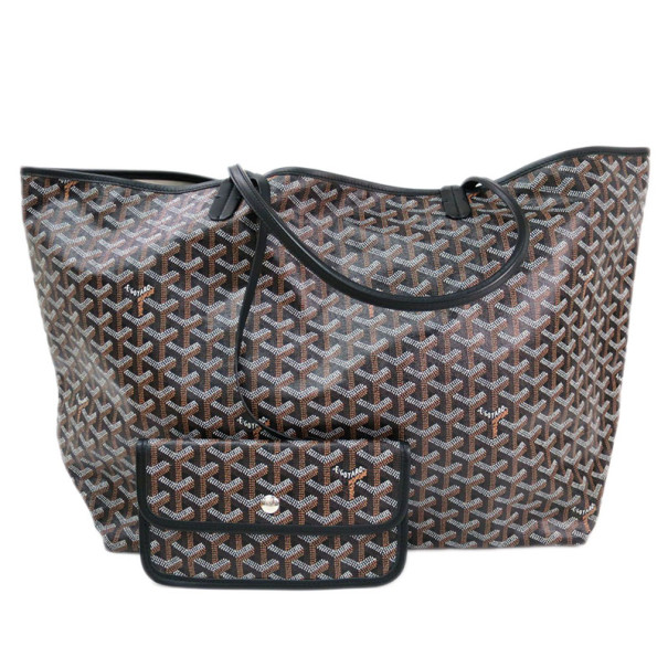 Goyard Black Canvas Saint Louis Tote GM