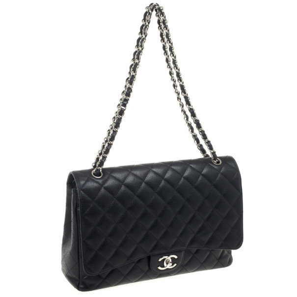 Chanel Black Caviar Classic Maxi Flap Bag