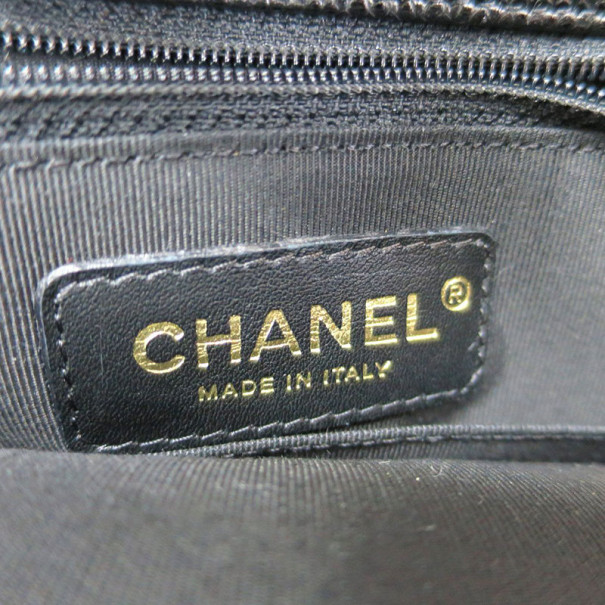 Chanel Black Caviar Petite Shopper Tote