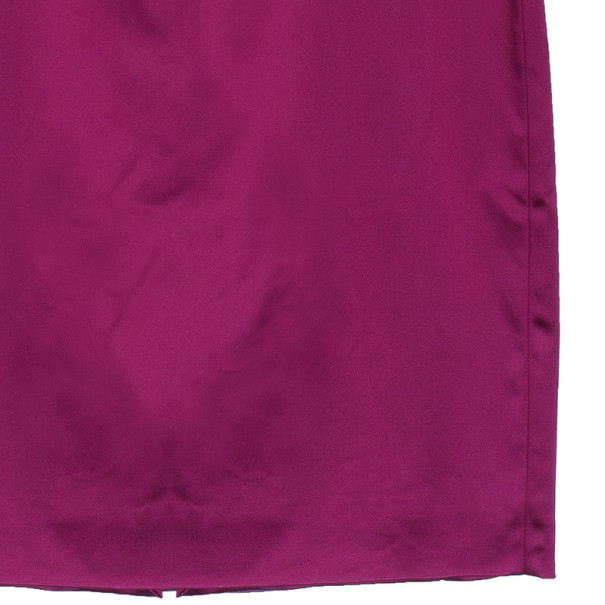 D and G Fuschia Sleeveless Satin Cocktail Dress M