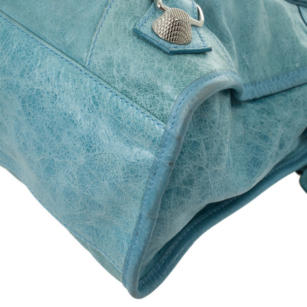 Balenciaga Light Blue Giant Silver City Bag