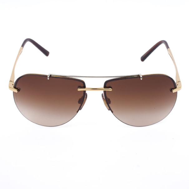 Dolce and Gabbana Gold Rimmed Unisex Aviators