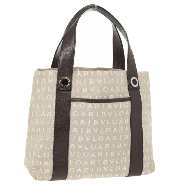 Bvlgari Logo Small Tote Bag