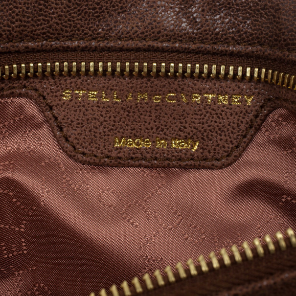 Stella McCartney Brown Falabella Shaggy Deer Fold Over Clutch