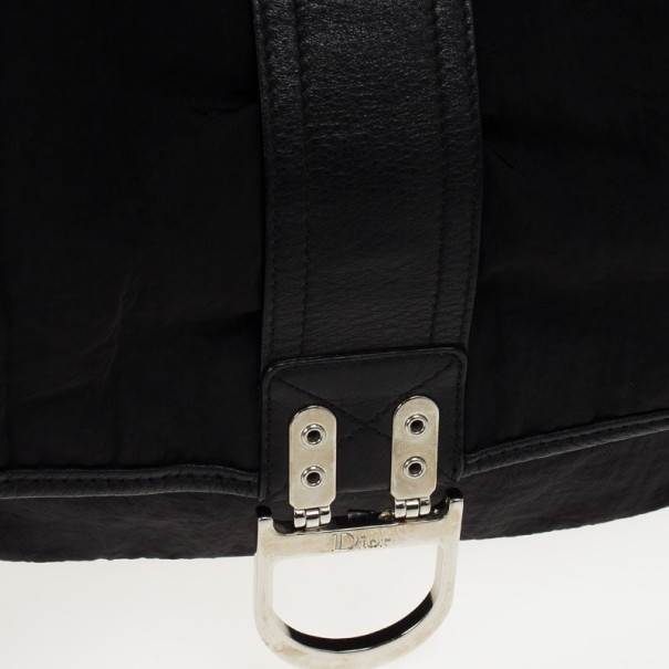 Christian Dior Black Nylon Messenger Bag