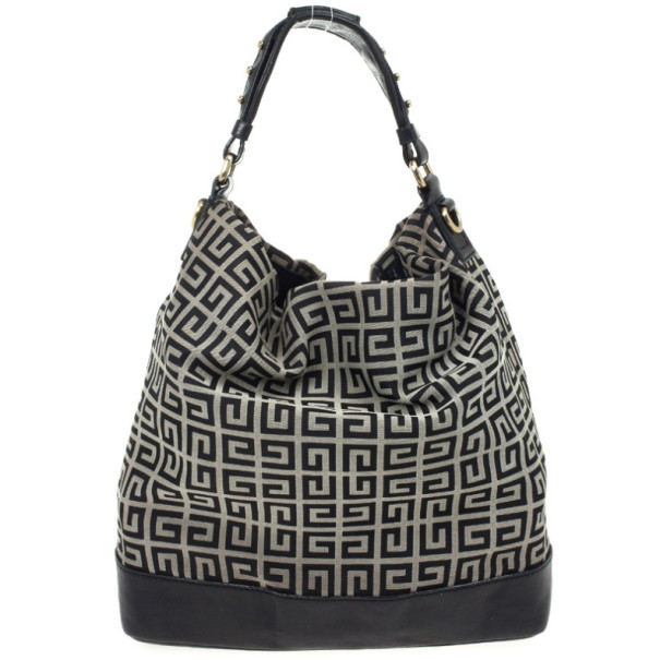 Givenchy Black Monogram Hobo Bag
