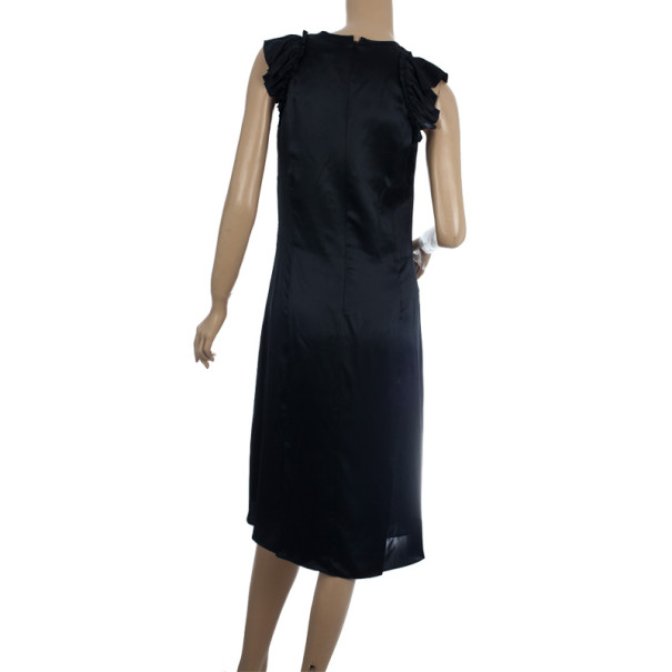 Burberry Pure Silk Cap Sleeve Dress M