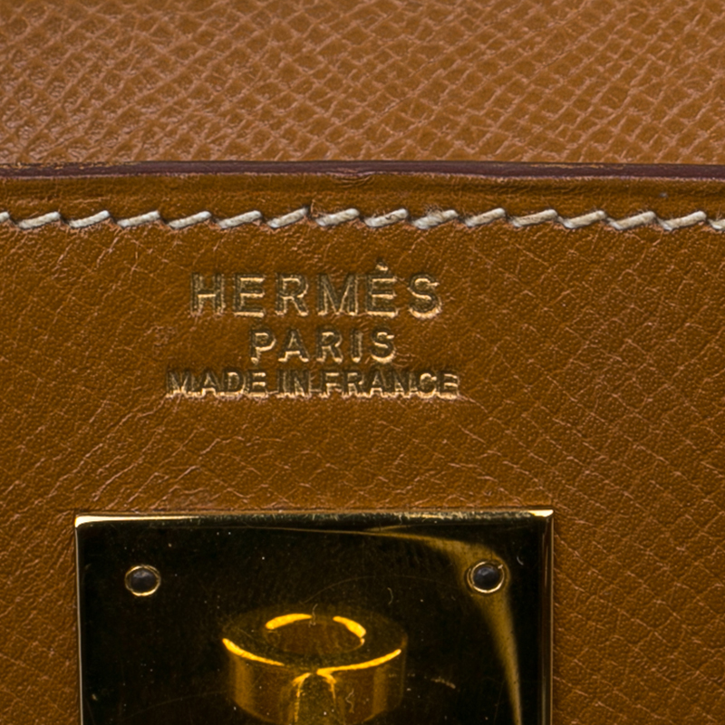 Hermes Orange Epsom Leather Gold Hardware Kelly Sellier 32 Bag