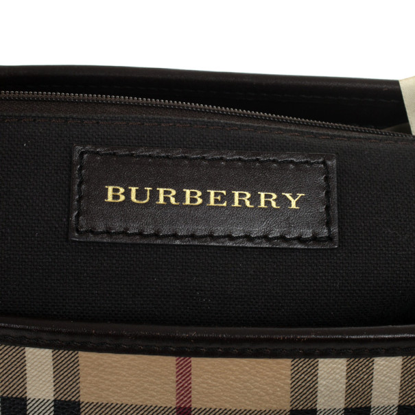 Burberry Haymarket Check Convertible Tote