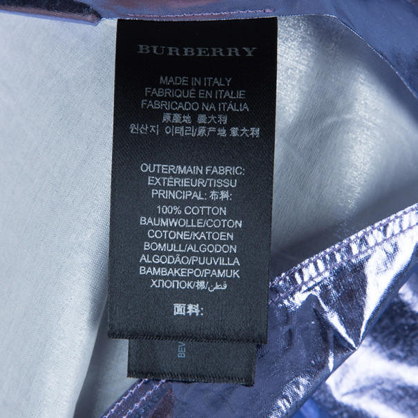 Burberry Metallic Button Down Top S
