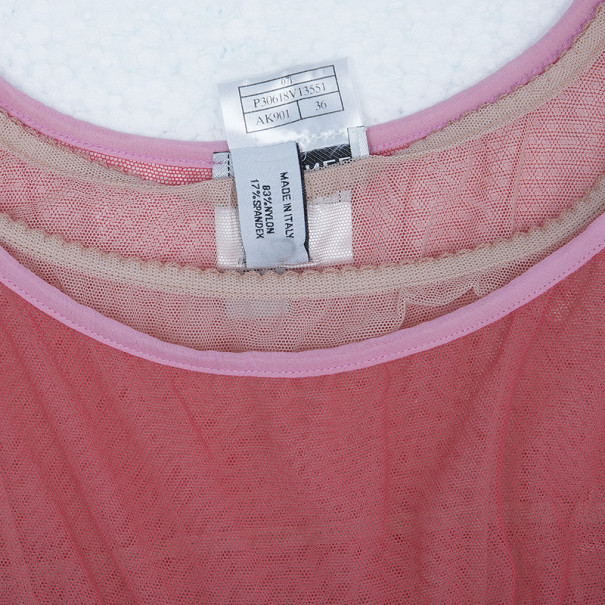 Chanel Mesh Pink Top S