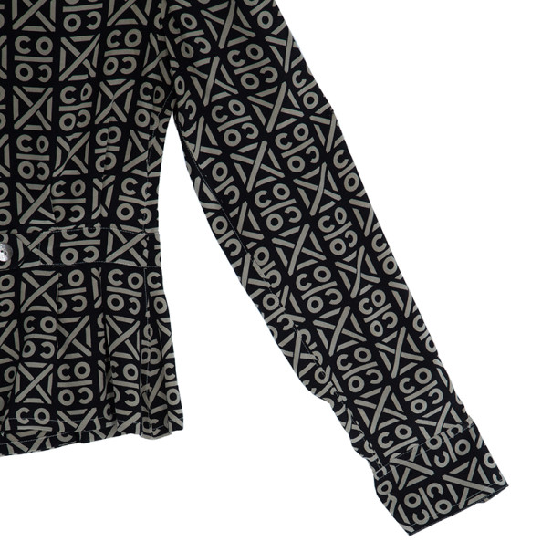 Chanel Printed Silk Shirt Top M