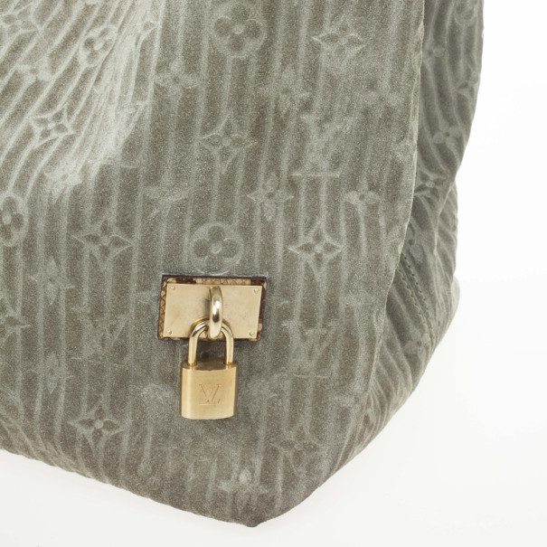 Louis Vuitton Jade Monogram Embossed Suede Whisper GM