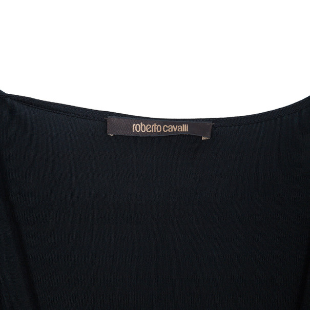 Roberto Cavalli Stretch Draped Top L