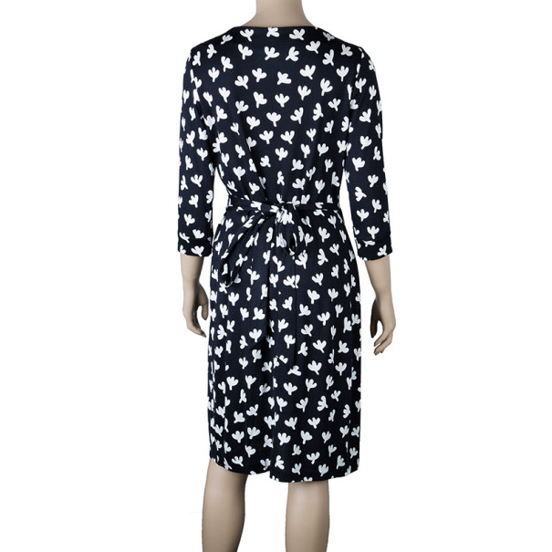 Diane Von Furstenberg Monochrome New Julian Wrap Dress M