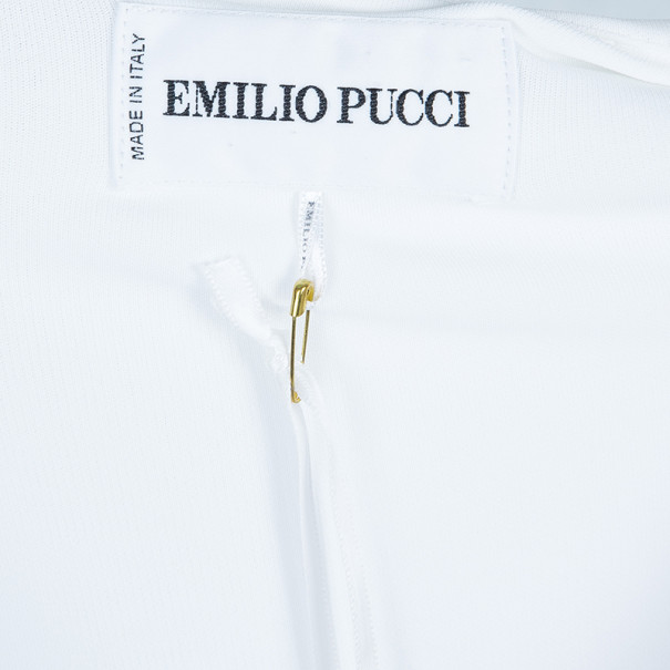 Emilio Pucci Diagonal Embellished Stretch Dress M
